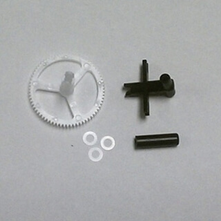 Lower Rotor Head; Outer Shaft/Gear; Washers (3)