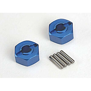 Wheel Hubs, Hex (Blue-Anodized, Lightweight Alumin