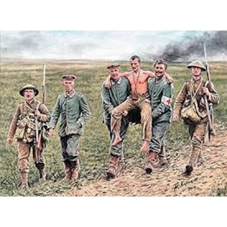 British And German Soldiers,Somme Battle,1916