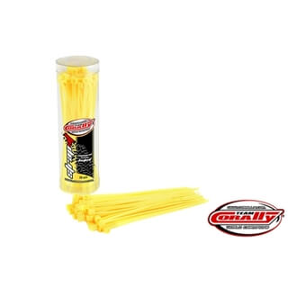 Cable Tie Raps - Yellow - 2.5x100mm - 50 Pcs