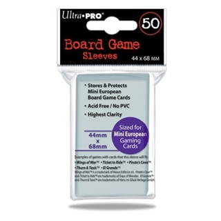 SLEEVES Board Game 44x68mm 50 d12