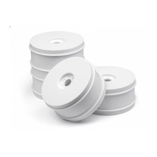 HB 1/8 BUGGY DISH WHEELS V2 (WHITE/4pcs)