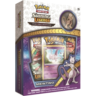 Pokemon Shining Legends Mewto Pin Collection