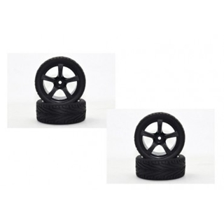 "Wheel Set Onroad ""5 Spoke Profile"" black 1:10  (4)"