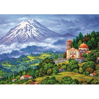 Landscape with the volcano - 1000 pcs