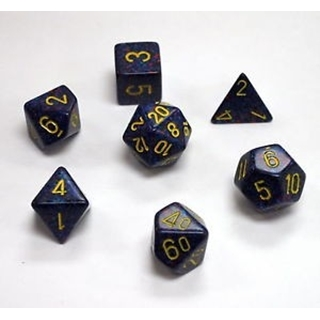 Twilight Speckled Polyhedral 7 Dice Set
