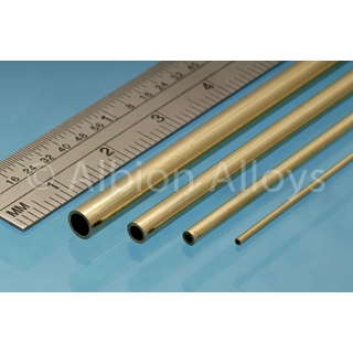 Round Brass Tube 9mm x 0.45mm