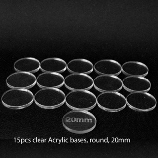 Acrylic Base - Round 20mm (15 Pcs)