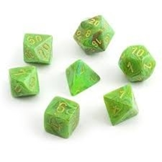 Dice Set Polyhedral Vortex Slime/Yellow D6 (7)