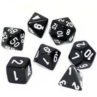 Dice Set Opa Poly Smoke/White (7)