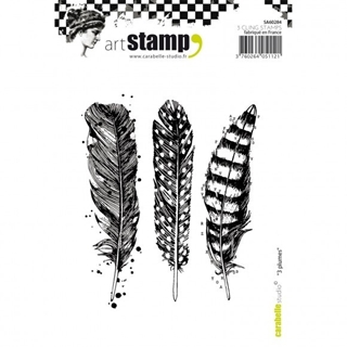Carabelle cling stamp A6 plumes