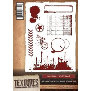 Journal Jottings A6 Unmounted Rubber Stamp Set