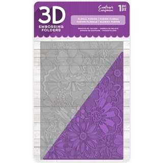 "5""x7"" Embossing Folder Floreal Fusion"