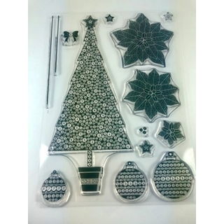 Crystal Art Stamps a Traditional Christmas