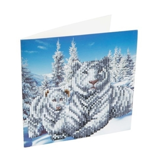 Crystal Card Kit Diamond Painting Snowy White Tige