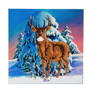 Crystal Card Kit ® Diamond Painting Winter Stag