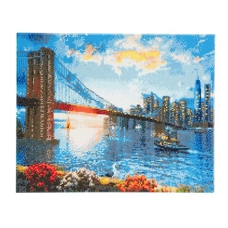 Crystal Art New York Skyline landscape 40x50 cm