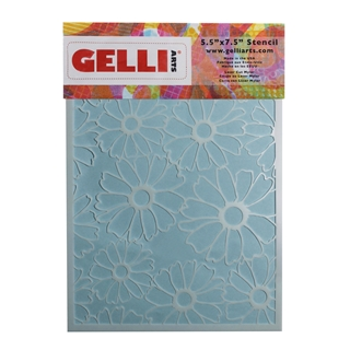 Flower Stencil - Designed to print with 5x7 Gelli
