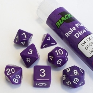 16mm Role Playing Dice Set - Purple (7 Dice)
