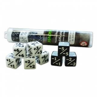 Positive/Negative D6 Dice 16 mm (8 Dice in Tube)