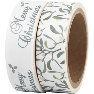 Masking Tape, b: 15 mm, , maretak en Merry Christm