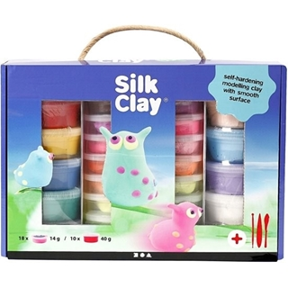 Silk Clay® Set, diverse kleuren, 1set