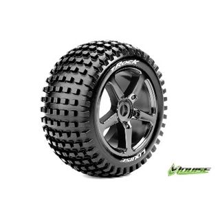 T-Rock 1/8 truggy Tires Chrome Mounted (2)