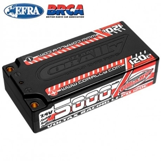 Voltax 120C LiPo Battery - 5000mAh - 7.4V - Shorty 2S -
