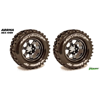 1/10 Monster Truck Tires - Mounted Soft Hex 14mm