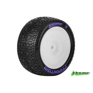 1/10 Buggy 4WD Rear Tires Mounted Hex 12mm