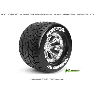 1/8 Monster Truck Tires - Mounted Hex 17mm