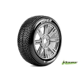 1/8 off road Buggy tires  zeskant 17mm zwart chroo