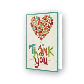 Diamond Dotz® - Greeting Card THANK YOU HEART