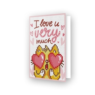 Diamond Dotz® - Greeting Card LOVE YOU