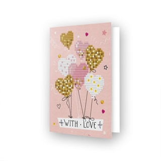 Diamond Dotz® - Greeting Card LOVE BALLOONS