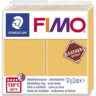 Fimo Leather Effect Safraan Geel 57gr