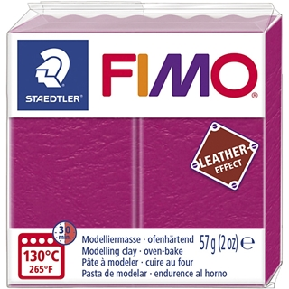 Fimo Leather Effect Roze/Berry 57gr