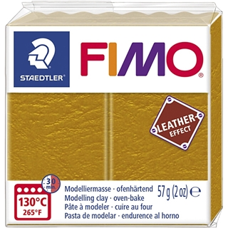 Fimo Leather Effect Oker 57gr