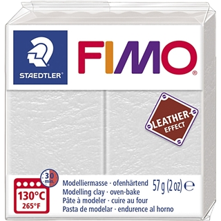 Fimo Leather Effect Ivoor 57gr