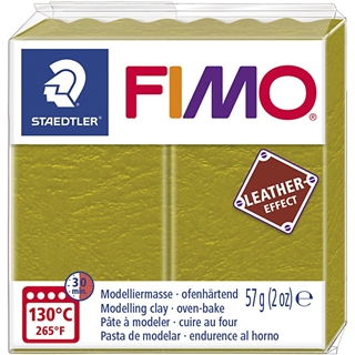 Fimo Leather Effect Olijf 57gr
