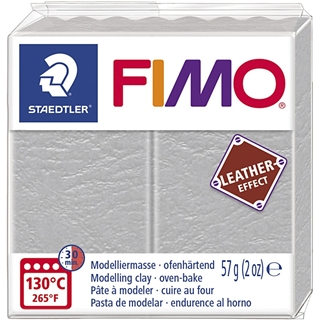 Fimo Leather Effect Duif grijs