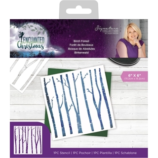 Enchanted Christmas - Stencil - Birch Forest