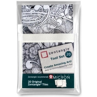 Zentangle Paper Set 20-delig Wit