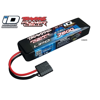 Power Cell LiPo 7600mAh 7.4V 2S 25C , Summit, E-Re