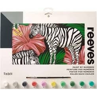Paint By Numbers Zebra