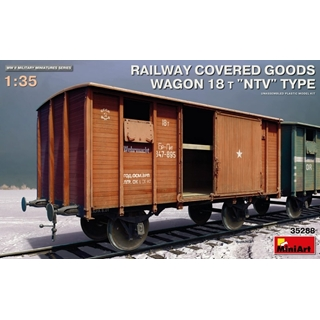 Railway Covered Goods Wagon 18 T NTV Type