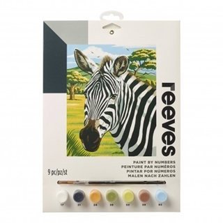 Paint By Numbers African Zebras