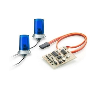 Blue Flashing Light With Electronic (2) 15x10 mm