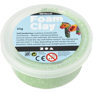 Foam Clay®, groen, metallic, 35gr