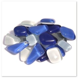 Soft Glas Poly Blauw Mix